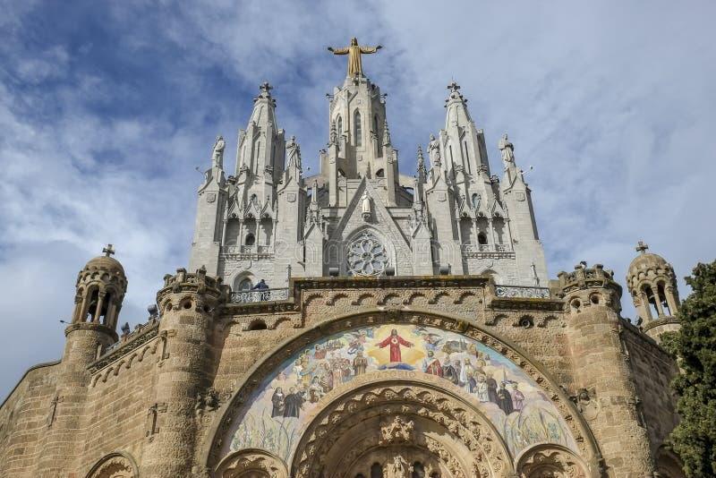 Ναός της ιερής καρδιάς του Ιησού Tibidabo στοκ φωτογραφίες