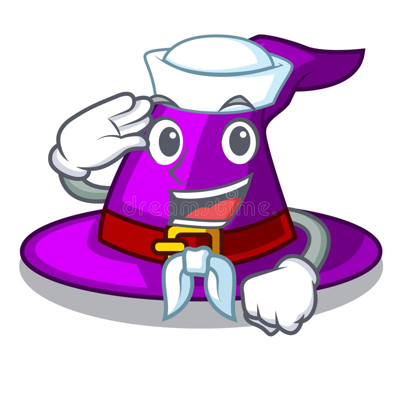 Ναυτικός με το καπέλο στη μασκότ μορφής διανυσματική απεικόνιση