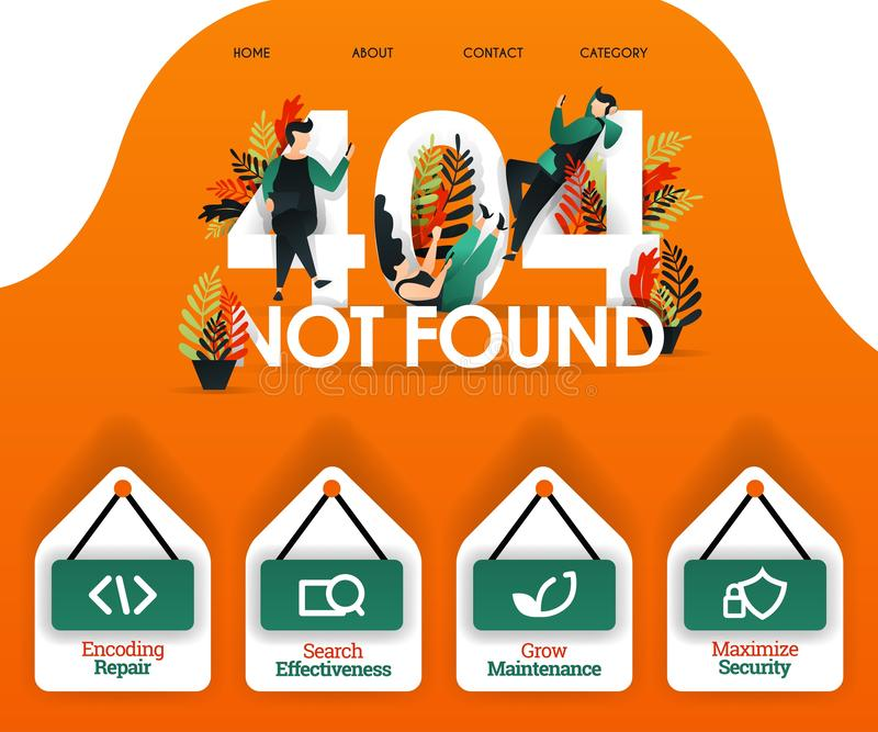 404 ΝΑ ΜΗΝ ΒΡΟΥΝ με τους ανθρώπους που ψάχνουν το λάθος και τα προβλήματα μπορέστε να χρησιμοποιήσετε για, προσγειωμένος σελίδα,  ελεύθερη απεικόνιση δικαιώματος