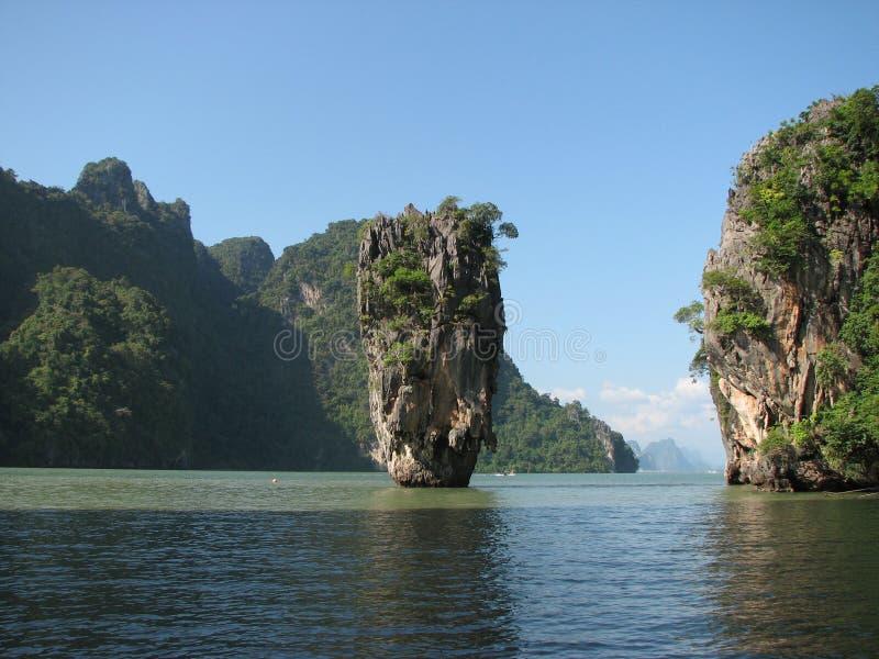 Νησί ή ko-Tapu του James Bond στη Θάλασσα Ανταμάν, Ταϊλάνδη στοκ φωτογραφίες