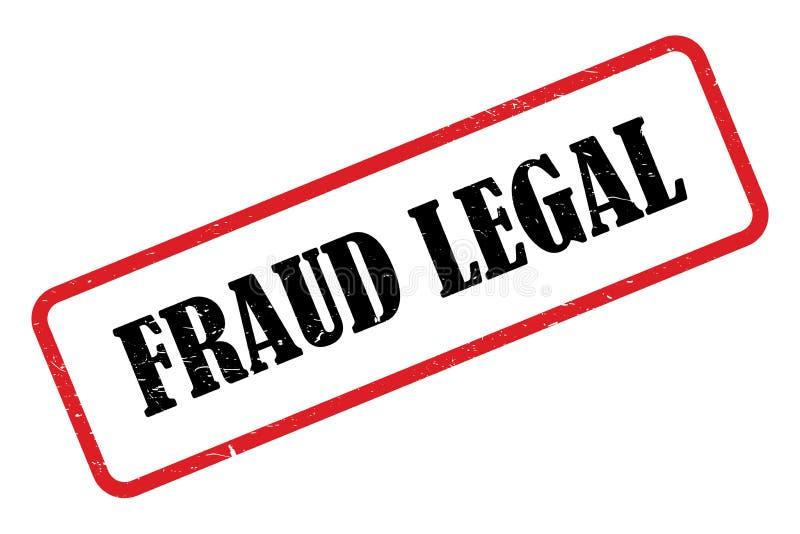 Νομικός τίτλος απάτης απεικόνιση αποθεμάτων
