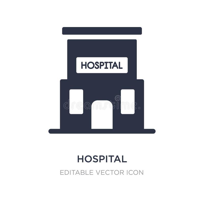 Νοσοκομείο που στηρίζεται το μπροστινό εικονίδιο στο άσπρο υπόβαθρο Απλή απεικόνιση στοιχείων από την ιατρική έννοια διανυσματική απεικόνιση