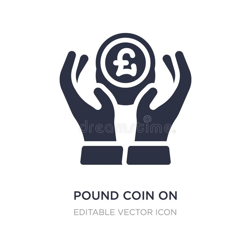 νόμισμα λιβρών στο εικονίδιο χεριών στο άσπρο υπόβαθρο Απλή απεικόνιση στοιχείων από την επιχειρησιακή έννοια ελεύθερη απεικόνιση δικαιώματος