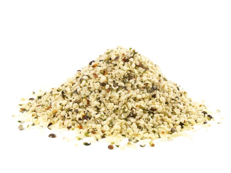 Ξεφλουδισμένος σπόρος κάνναβης - υγιής διατροφή στοκ εικόνα με δικαίωμα ελεύθερης χρήσης