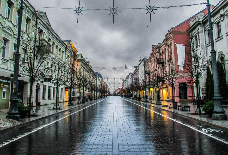 Ξημερώματα σε Vilnius, Λιθουανία στοκ εικόνες
