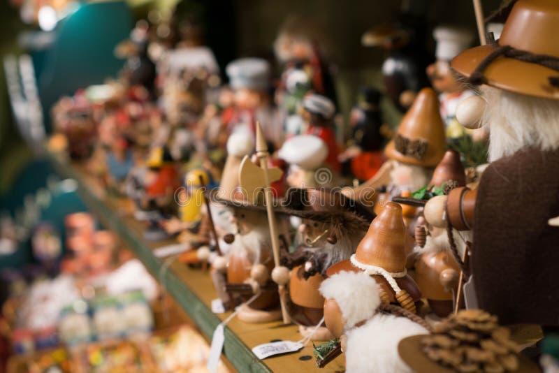 Ξύλινα παιχνίδια Ελβετία Χριστουγέννων στοκ φωτογραφία