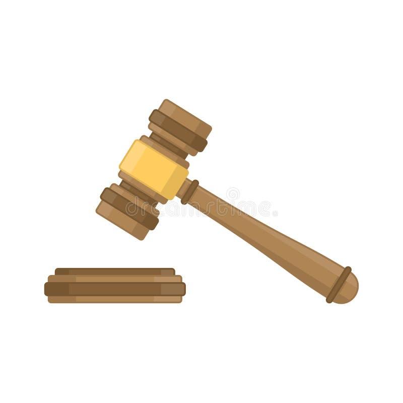 Ξύλινο σφυρί δικαστών ελεύθερη απεικόνιση δικαιώματος