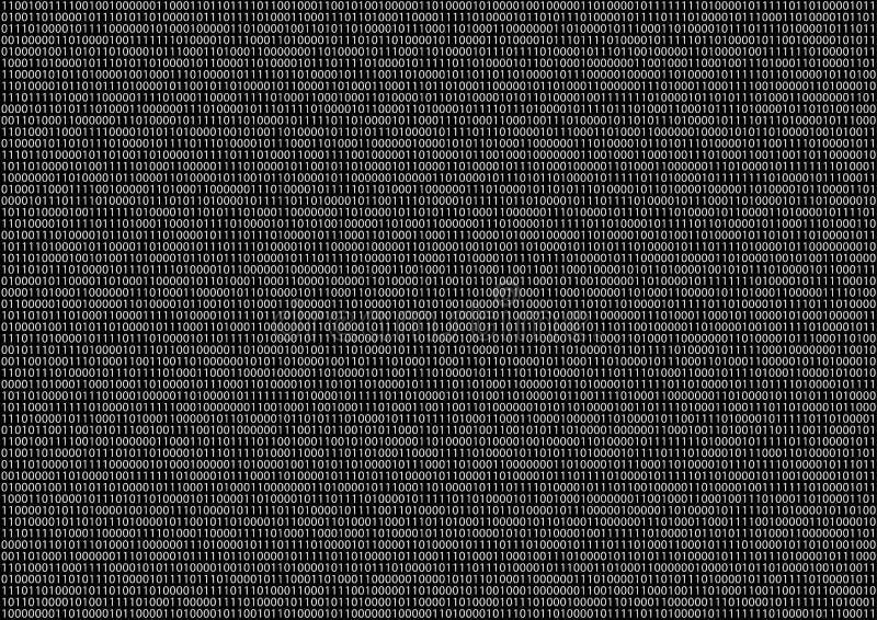 Οθόνη δυαδικού κώδικα στοκ εικόνες με δικαίωμα ελεύθερης χρήσης