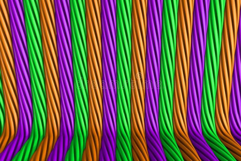 Οι γεωμετρικές επιφάνειες διαμόρφωσαν με την εξωθημένη μορφή λουλουδιών, έννοια φεστιβάλ - τρισδιάστατη απεικόνιση υψηλής τεχνολο ελεύθερη απεικόνιση δικαιώματος