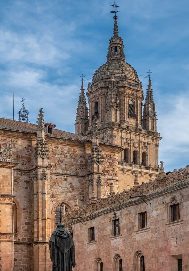 Οι ενωμένοι καθεδρικοί ναοί του παλαιού και νέου καθεδρικού ναού Σαλαμάνκας, Καστίλλη-Leon, Ισπανία Ο παλαιός καθεδρικός ναός που στοκ φωτογραφίες με δικαίωμα ελεύθερης χρήσης