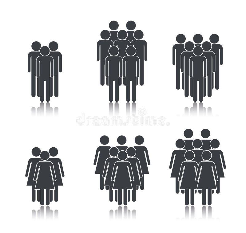 Οι καθορισμένοι άνθρωποι ομαδοποιούν το μέλος στη δημόσια συζήτηση διανυσματική απεικόνιση