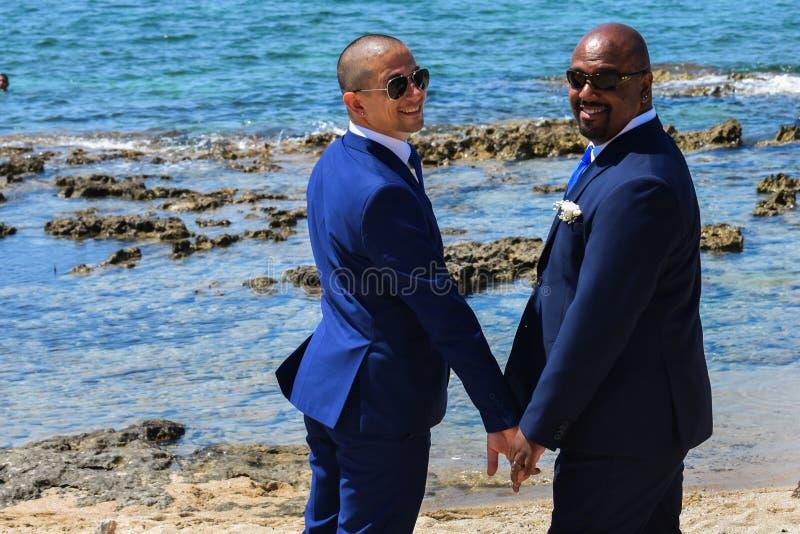 Ομοφυλοφιλικό ζεύγος LGBT που παντρεύεται στοκ φωτογραφίες με δικαίωμα ελεύθερης χρήσης