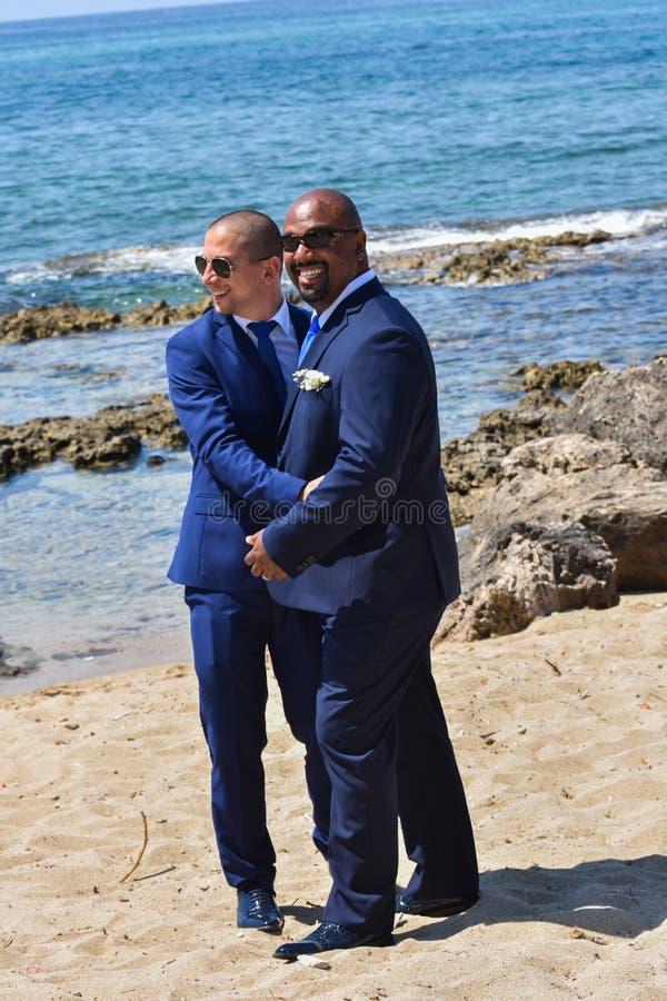 Ομοφυλοφιλικό ζεύγος LGBT που παντρεύεται στοκ εικόνες