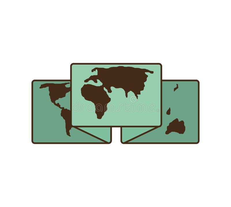 Οδηγός χαρτών εγγράφου με τη θέση καρφιτσών ελεύθερη απεικόνιση δικαιώματος