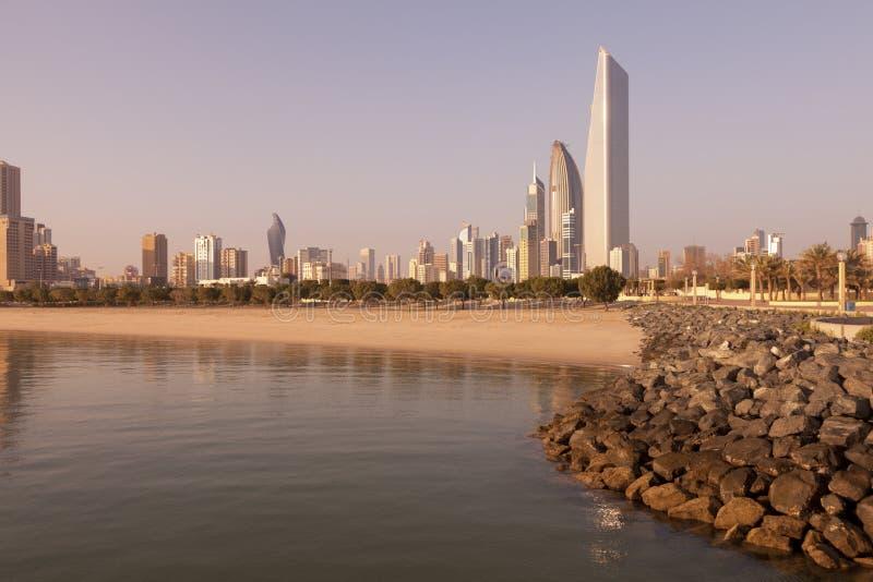 ορίζοντας του Κουβέιτ πό&l στοκ φωτογραφία