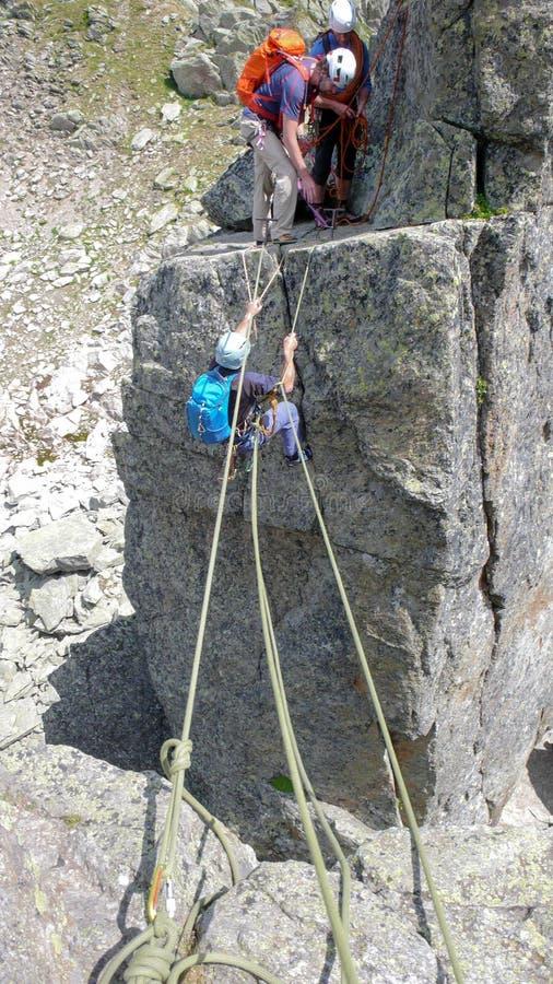 Ορειβάτες βράχου σε Chamonix στοκ εικόνα με δικαίωμα ελεύθερης χρήσης