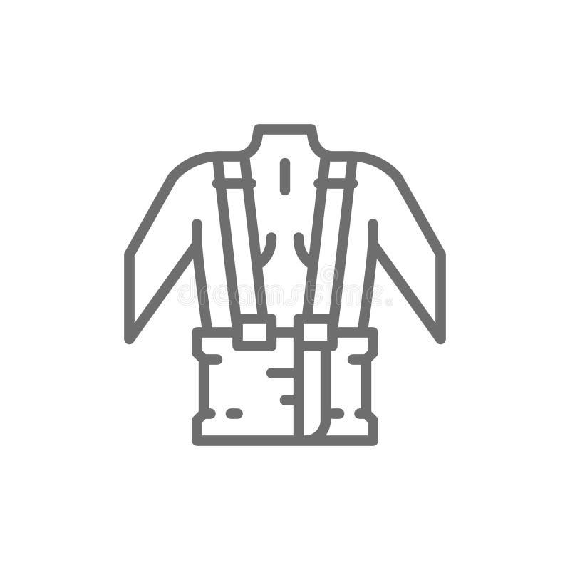 Ορθοπεδική ζώνη για το πίσω εικονίδιο γραμμών υποστήριξης ελεύθερη απεικόνιση δικαιώματος