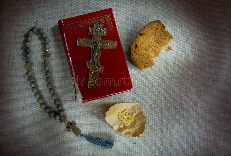 Ορθόδοξα χριστιανικά θρησκευτικά σύμβολα της πίστης και της πνευματικής εσωτερικής ζωής στοκ εικόνες με δικαίωμα ελεύθερης χρήσης