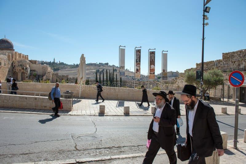 Ορθόδοξοι Εβραίοι Haredi εξαιρετικά, Ιερουσαλήμ στοκ φωτογραφία με δικαίωμα ελεύθερης χρήσης