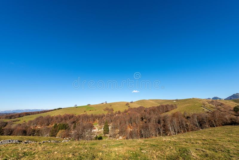 Οροπέδιο Lessinia το χειμώνα - Βένετο Ιταλία στοκ φωτογραφία με δικαίωμα ελεύθερης χρήσης