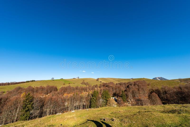 Οροπέδιο Lessinia το χειμώνα - Βένετο Ιταλία στοκ εικόνα με δικαίωμα ελεύθερης χρήσης