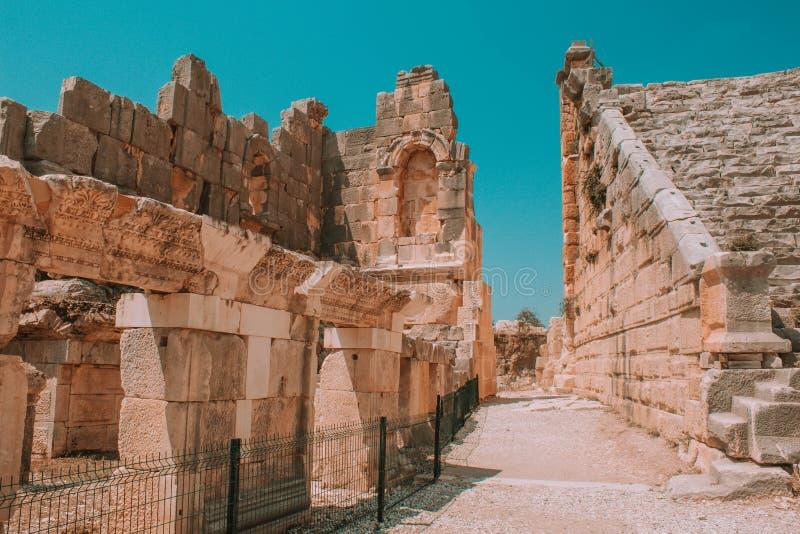Ορόσημο Τουρκία - αρχαίες καταστροφές στοκ εικόνες
