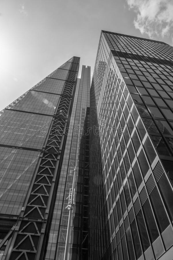 ουρανοξύστες του Λονδ στοκ εικόνες