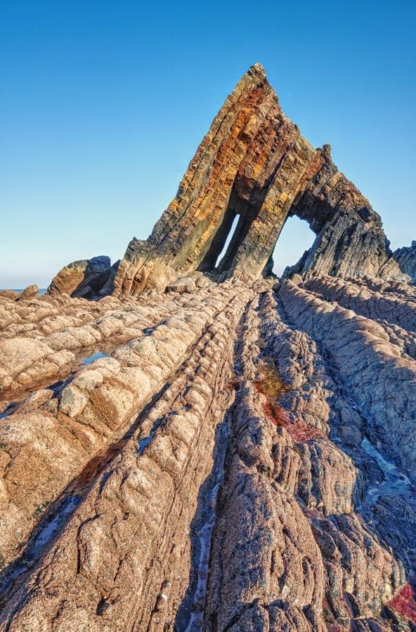 Ο αινιγματικός βράχος Blackchurch, Hartland χερσονήσιο, Devon στοκ εικόνες