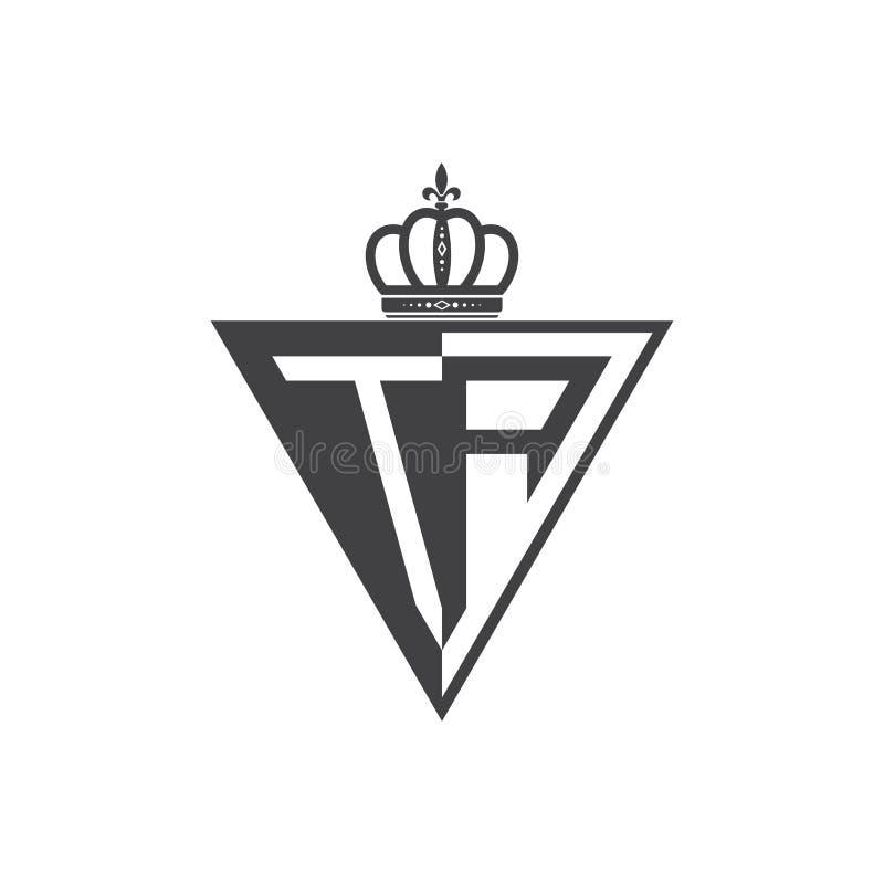Ο αρχικός Μαύρος τριγώνων λογότυπων δύο γραμμάτων TA μισός ελεύθερη απεικόνιση δικαιώματος
