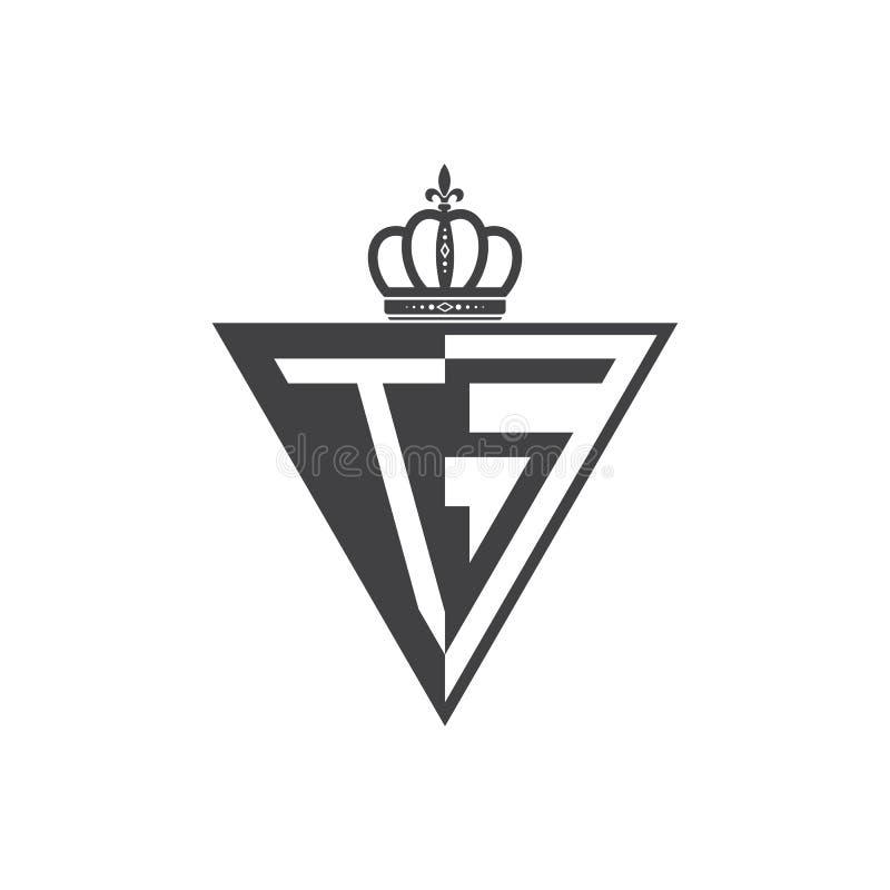 Ο αρχικός Μαύρος τριγώνων λογότυπων δύο γραμμάτων TS μισός απεικόνιση αποθεμάτων