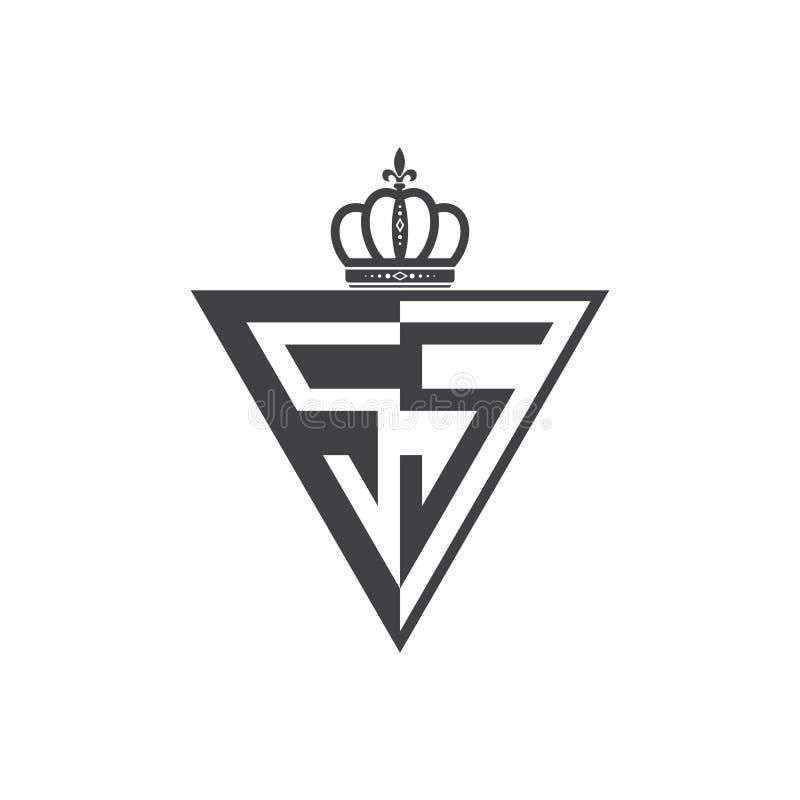 Ο αρχικός Μαύρος τριγώνων λογότυπων δύο SS επιστολών μισός ελεύθερη απεικόνιση δικαιώματος