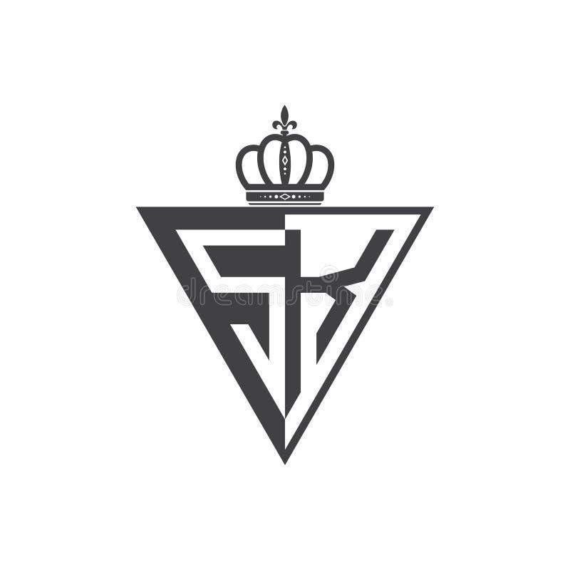 Ο αρχικός δύο επιστολών Μαύρος τριγώνων λογότυπων του SK μισός ελεύθερη απεικόνιση δικαιώματος