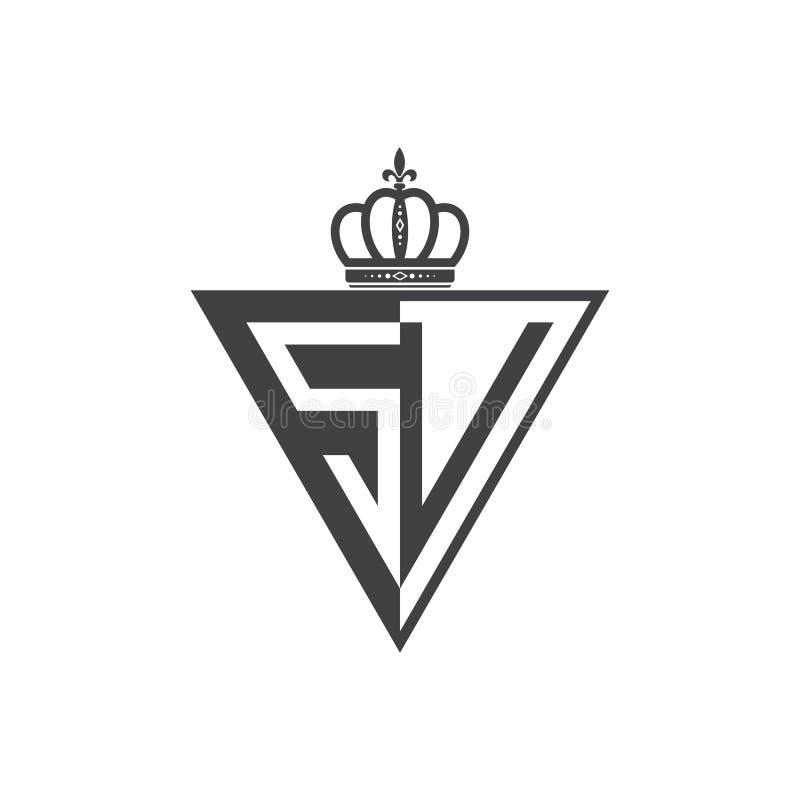 Ο αρχικός δύο επιστολών Μαύρος τριγώνων λογότυπων του SV μισός ελεύθερη απεικόνιση δικαιώματος