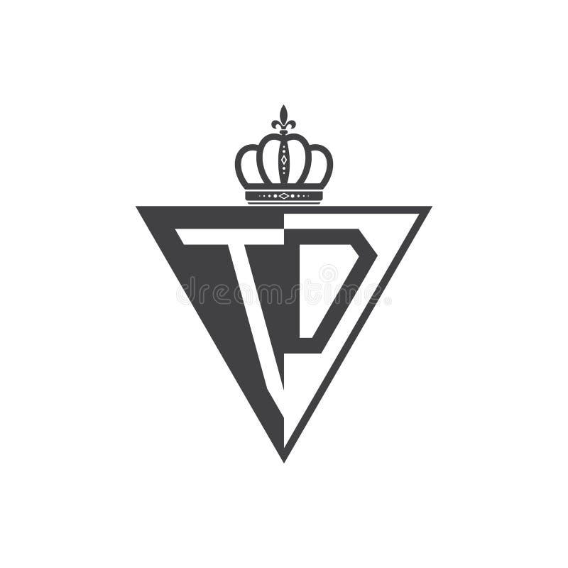 Ο αρχικός δύο επιστολών Μαύρος τριγώνων λογότυπων του TD μισός απεικόνιση αποθεμάτων