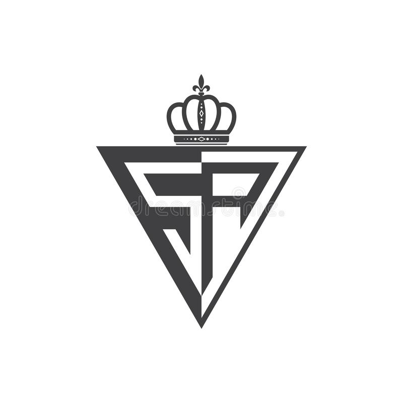 Ο αρχικός δύο επιστολών Μαύρος τριγώνων λογότυπων Sa μισός απεικόνιση αποθεμάτων