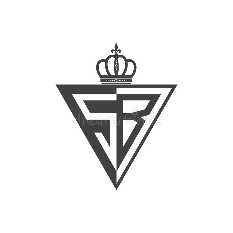 Ο αρχικός δύο επιστολών Μαύρος τριγώνων λογότυπων Sb μισός ελεύθερη απεικόνιση δικαιώματος
