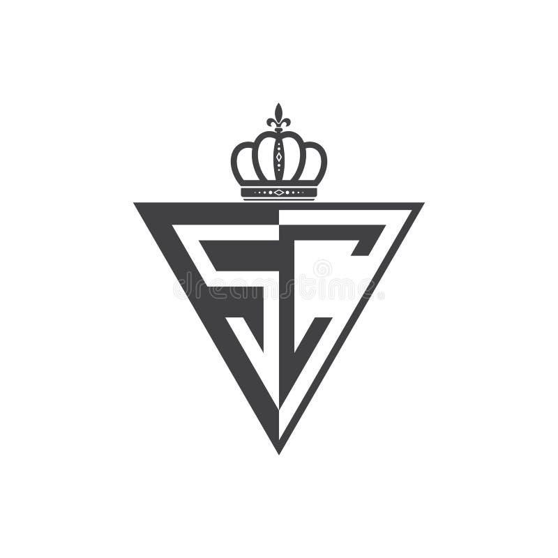 Ο αρχικός δύο επιστολών Μαύρος τριγώνων λογότυπων Sc μισός ελεύθερη απεικόνιση δικαιώματος