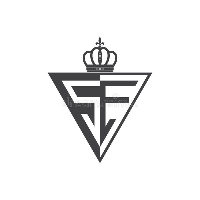 Ο αρχικός δύο επιστολών Μαύρος τριγώνων λογότυπων SE μισός διανυσματική απεικόνιση