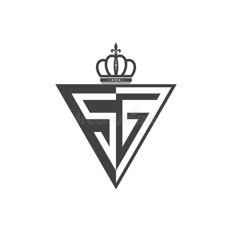 Ο αρχικός δύο επιστολών Μαύρος τριγώνων λογότυπων SG μισός ελεύθερη απεικόνιση δικαιώματος