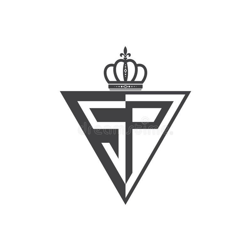 Ο αρχικός δύο επιστολών Μαύρος τριγώνων λογότυπων SP μισός ελεύθερη απεικόνιση δικαιώματος