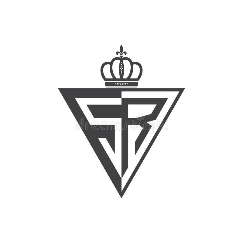 Ο αρχικός δύο επιστολών Μαύρος τριγώνων λογότυπων SR μισός απεικόνιση αποθεμάτων