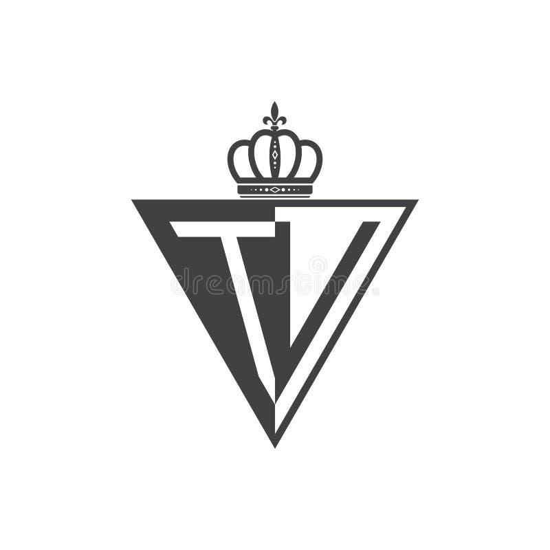 Ο αρχικός δύο επιστολών Μαύρος τριγώνων λογότυπων TV μισός ελεύθερη απεικόνιση δικαιώματος