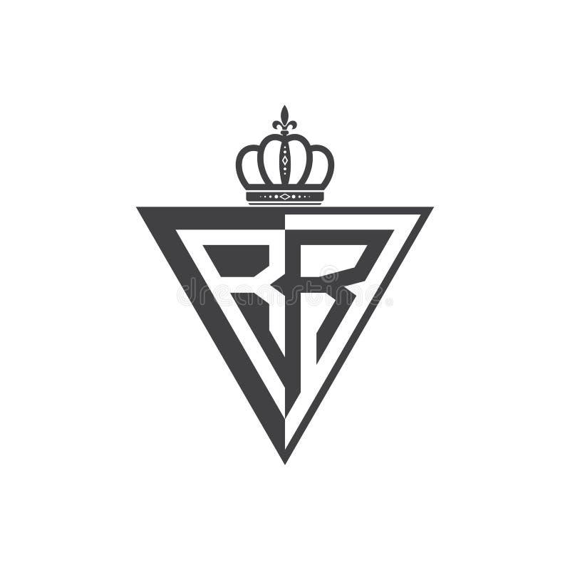 Ο αρχικός δύο Μαύρος τριγώνων λογότυπων γραμμάτων RR μισός απεικόνιση αποθεμάτων
