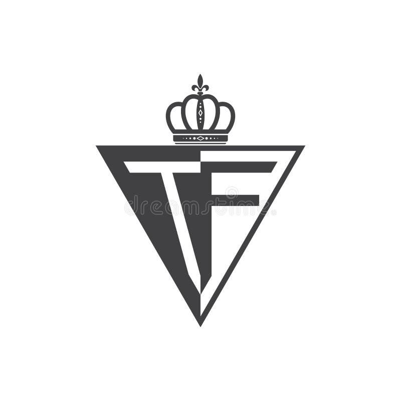 Ο αρχικός δύο Μαύρος τριγώνων λογότυπων γραμμάτων TF μισός απεικόνιση αποθεμάτων