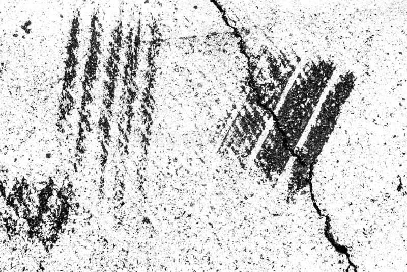 Ο αφηρημένος κατασκευασμένος Μαύρος ξύνει στο άσπρο χρωματισμένο υπόβαθρο ασφάλτου στοκ εικόνα με δικαίωμα ελεύθερης χρήσης
