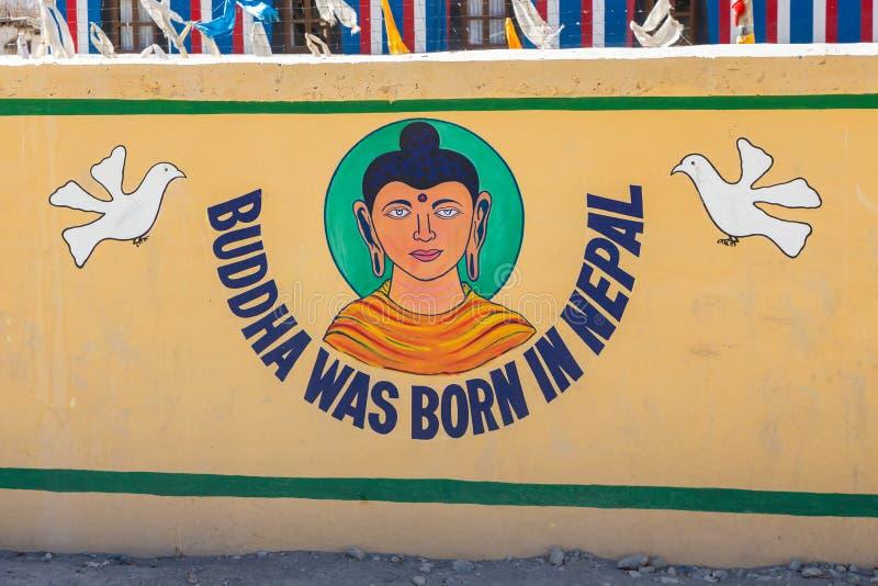 Ο Βούδας γεννήθηκε στο Νεπάλ στοκ φωτογραφία με δικαίωμα ελεύθερης χρήσης