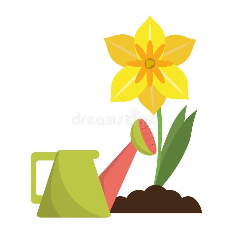 Ο κήπος μπορεί ποτίζοντας να ανθίσει διανυσματική απεικόνιση