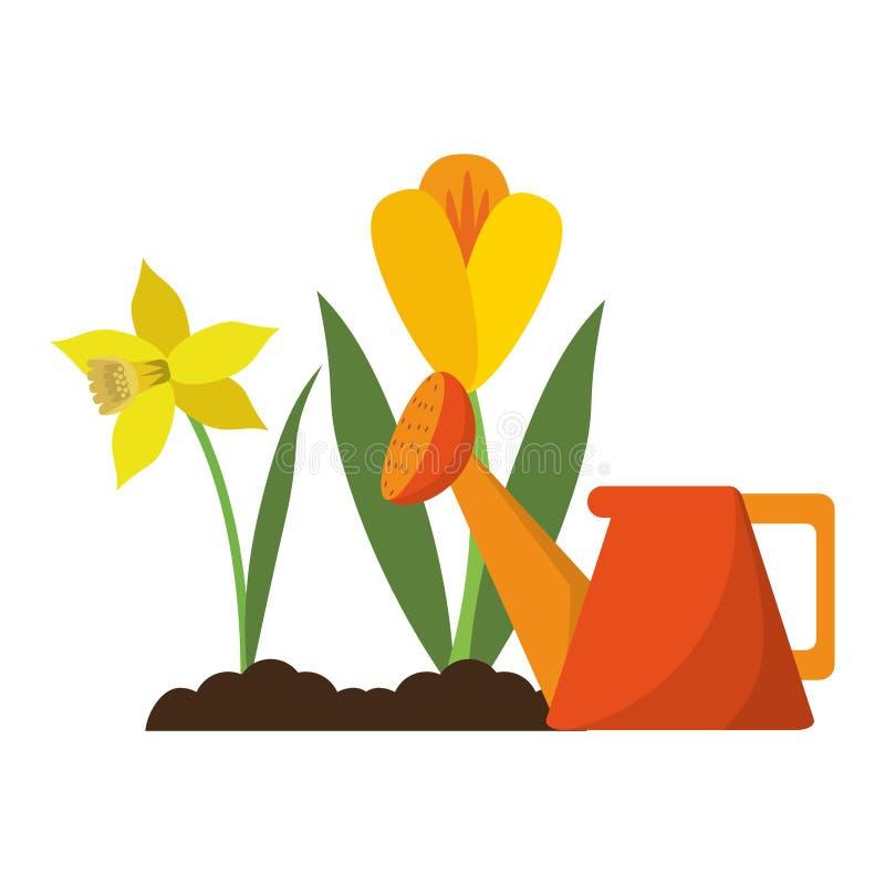Ο κήπος μπορεί ποτίζοντας να ανθίσει απεικόνιση αποθεμάτων