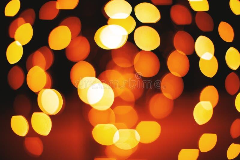 Ο κίτρινος και κόκκινος κύκλος και η ωοειδής μορφή το αφηρημένο υπόβαθρο φω'των στοκ φωτογραφίες με δικαίωμα ελεύθερης χρήσης