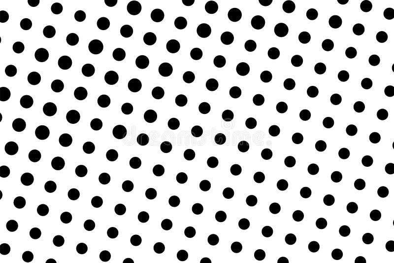 Ο Μαύρος στην άσπρη ημίτοή διανυσματική σύσταση Ψηφιακή διακόσμηση σημείων Πόλκα Αραιή εκλεκτής ποιότητας επίδραση dotwork διανυσματική απεικόνιση